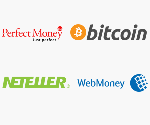 perfect-money, webmoney, bitcoin and netteller